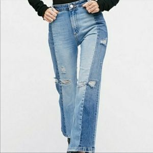 Free People Two-Tone Jeans